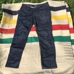 LOFT curvy straight jeans